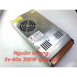 Nguồn tổ ong 5V 60A 300W(quạt) mỏng cũ