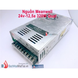 Nguồn tổ ong Meanwell 24V-12,5A 320w quạt S320-24