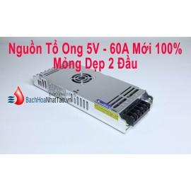 Nguồn Tổ Ong 5V 60A Quạt Mỏng 2 Đầu Mới 100%