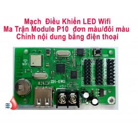 Card điều khiển LED Wifi Module P10 màu đơn - màu đôi ZH-5W2