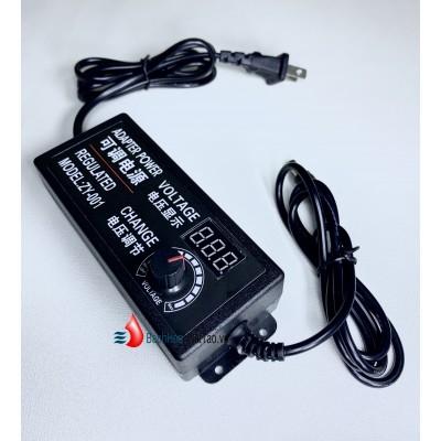 Nguồn apdapter chỉnh áp 3v~12v 5a tích hợp đồng hồ hiển thị led