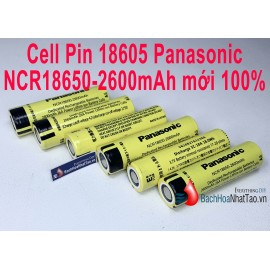 Cell Pin 18605 Panasonic NCR18650