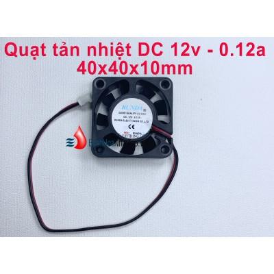 Quạt tản nhiệt DC 12v 0.12a vuông 4x4x1cm