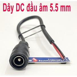 Dây DC đầu âm 5.5 mm