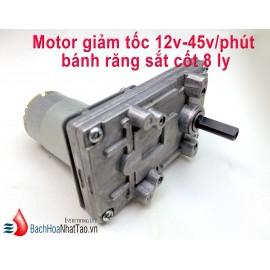 Motor Giảm tốc 12v-45v/phút cốt 8ly
