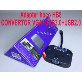 HOCO HB8 Type-C to VGA, USB3.0, USB 2.0