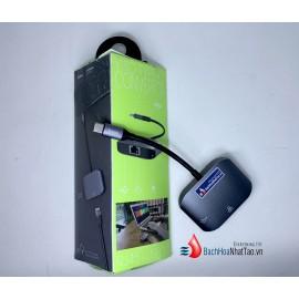 Hoco. HB9 Cổng Chuyển Đổi Type-C Sang RJ45+USB3.0