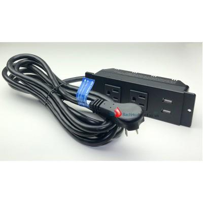 Ổ cắm mở rộng thương hiệu Miezo ET-22 cho ra 2 cổng AC và 2 cổng sạc USB