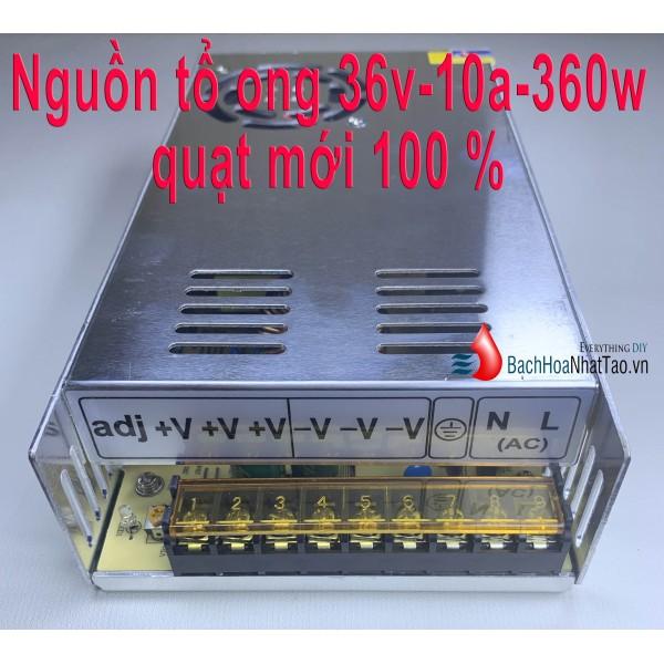 Nguồn tổ ong 36V 10A 360W quạt mới 100 %