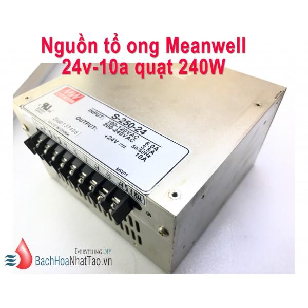 Nguồn tổ ong Meanwell 24V 10a Quạt