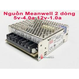 Nguồn tổ ong Meanwell 2 dòng 12v 1.0a-5v 4.0a cũ