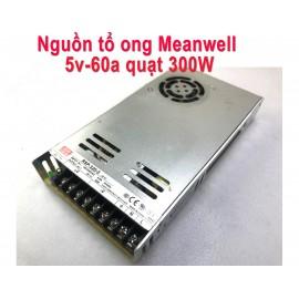 Nguồn tổ ong Meanwell 5V 60A Quạt 300W Cũ
